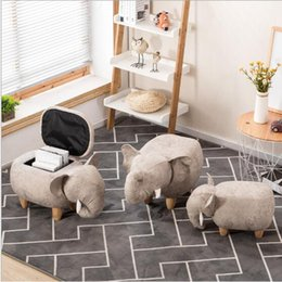 Modern Living Room Chairs Australia - Storage Stool Shoes Elephant Changing Living Room Sofa Foot Chair Cloth Package Wooden Modern Stools New Arrival Furniture
