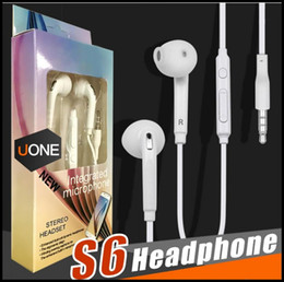 $enCountryForm.capitalKeyWord Australia - Wholesale S6 S7 Earphone Earbuds iPhone 6s Headset Sport for Jack In Ear wired With Mic Volume Control 3.5mm White