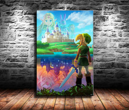$enCountryForm.capitalKeyWord Australia - 1 Pieces Canvas Prints Wall Art Oil Painting Home Decor The Legend of Zelda , Link Between (Unframed Framed) 24x36.