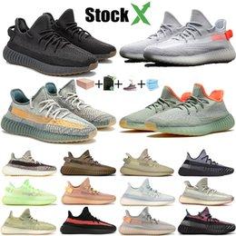 Os mais recentes Kanye Designer Shoes Luz Traseira Cinder linho lsrafil Oreo Reflective Correndo Sneakers Zyon Yeshaya Yecheil Preto estática Homens Trainers em Promoção