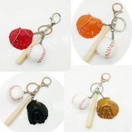 $enCountryForm.capitalKeyWord Australia - Free DHL Three-piece Pendant Keychains Mini Baseball Glove Wooden Bat Keychain Keyfob 4 Styles For Women & Men Fashion Accessorices G633Q F