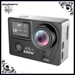 touchscreen hdmi UK - Original EKEN H5S plus EIS perfect 4K metal frame touch screen Action Sports Camera WIFI HDMI 170 Wide Angle remote control waterproof DV