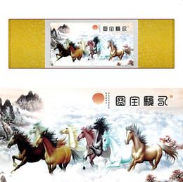 $enCountryForm.capitalKeyWord Australia - Top Quality Chinese Horse Be Painting Horse Art Painting Silk Scroll Art Painting Eight Horse Painting19062812