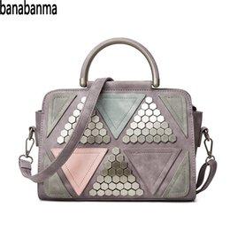 $enCountryForm.capitalKeyWord Australia - Banabanma Women Handbag Fashionable Shoulder Bag Large Tote Rivet Color Blocks Handbag Bags for Women 2018 ZK50