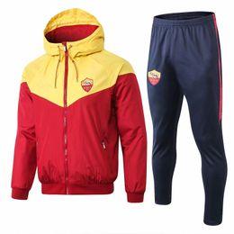 Gore Tex Xcr Jacket Australia - 18 19 new Roman jacket Windbreaker sportswear Rome TOTTI ROSSI DZIKO football jacket sportswear training suits