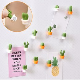 $enCountryForm.capitalKeyWord NZ - 6pcs Mini Magnetic Small Fresh Fridge Magnets Cute Succulent Plant Magnet Button Cactus Refrigerator Message Sticker Magn#CG1