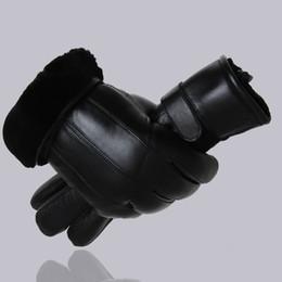 Men Gloves Leather Sheepskin NZ - Mppm Hot Sale Men Sheepskin Gloves Genuine Leather Glove For Men Winter Outdoor Warm Fur Thickening Thermal Patchwork Gloves T190618