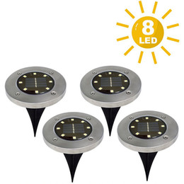solar led floor lamps Canada - Solar Power Buried Stair Light Under Ground Lamp Outdoor Path Way Garden Decorations Floor Lawn Lamp Waterproof Floodlight