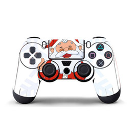 Cool Ps4 Skins UK - Delicate Santa Claus Game Sticker Vinyl For PS4 Controller Decal Skins PS4 Gamepad Cover For PS4 PVC Protector Skin Cool For Controllers