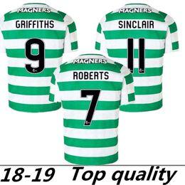 655d262f2 18 19 Home Soccer Jersey Away Short sleeve soccer jersey Celtic Griffiths  dembele Sinclair Rogic McGregor Roberts Forrest Football shirt uni