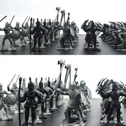 Wholesale Medieval Military War Simulation Warriors Ancient Soldier static Military figures Model for Children Gifts set