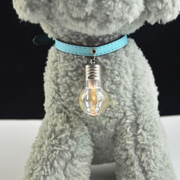Wholesale 1pcs Led Colorful Glow Dogs Safety Night Light Pendant Necklace Pet Cat Puppy Flashing Luminous Pendant Collar Dog Accessories