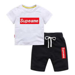 Branded Baby Kids Clothes Australia - Baby Boys Girls Designer T-shirts + Shorts Suit Brand Tracksuits Kids Clothing Set Children's Clothing Boy Tops Pant