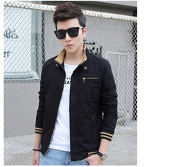 Wholesale blue military jacket mens online – oversize Mens Fashion Designer Jackets Mens Standing Collar Cotton Wash Plus Size Coat Youth Military Casual Jacket Gentlemen Coats