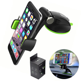 Discount high car cup holder - Universal 360 Degree Car Phone Holder Air Vent Mount Stand Suction Cup In Car Mobile Phone Stand Holder with Retail pack