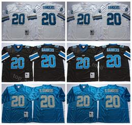 ccd377f6c5b Detroit Lions 20 Barry Sanders Jersey Men Black Blue White Away Vintage Sanders  Football Jerseys American For Sport Fans Breathable