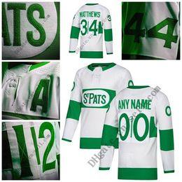 Custom 2019 Toronto St. Pats Maple Leafs Any Name Any Number 91 Tavares 34  Matthews 16 Marner Kapanen Morgan Rielly Home Away Hockey Jersey 7e389d288