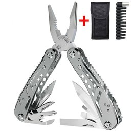 Wholesale EDC Multitool with Mini Tools Knife Pliers Swiss Army Knife and Multi tool kit for outdoor camping equipment