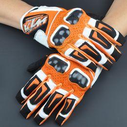 $enCountryForm.capitalKeyWord Australia - Free Shipping 2019 racing gloves Leather KTM Motorcycle Gloves men Carbon Fiber Gloves Motorbike Motorcross ATV Worldwide