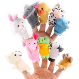 Plush farm finger PuPPets online shopping - Even mini animal finger Baby Plush Toy Finger Puppets Talking Props animal group Stuffed Plus Animals Stuffed Animals Toys Gifts Frozen