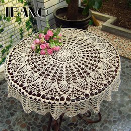 $enCountryForm.capitalKeyWord Australia - Handmade Crochet Coasters Cotton Lace Cup Mat Placemat 70  80  90 Cm Rd Shabby Chic Vintage Diy Crocheted Table Cloth T8190620