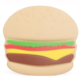 $enCountryForm.capitalKeyWord UK - 100% FDA Silicone Baby Teething Toy, Lovely Hamburger Shape Teether, Best for Sore Gums Pain Relief And Kids With Special Need