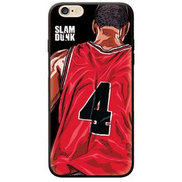 Chinese  Cool Boys Designer Cartoon Basketball Phone Cases for IPhone X XS 7 8 6 PLUS Designer Street Style Red Number Pattern Cover Gift manufacturers
