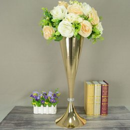 tall centerpiece vases wholesale Australia - 54cm Tall Metal flower vases Table centerpiece Wedding Props free shipping