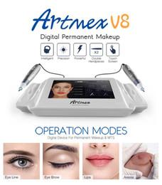 высококачественная Цифровая татуировка перманентный макияж машина автоматическая микроигла система для бровей подводка для глаз губ Artmex V8 на Распродаже