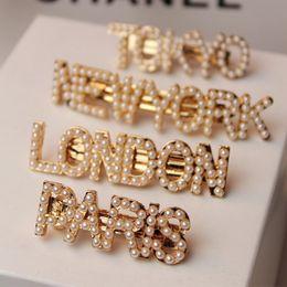 $enCountryForm.capitalKeyWord Australia - City Name Hairpin Pearl Hair Clips Fashion Letter Spring Clip Women Hair Accessories Head Jewelry Wholesale