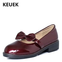 black patent leather toddler shoes Canada - New Giels Shoes Children Casual Baby Princess Student Dress Shoes Toddler Breathable Kids Leather Moccasins 02C