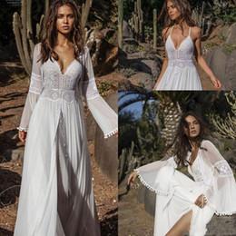 2019 Boho Stil Kadınlar Dantel Elbise Yaz Gevşek Rahat Plaj Salıncak Elbise İki Adet Şifon Dantel Bayan Giyim Güneş Elbise indirimde