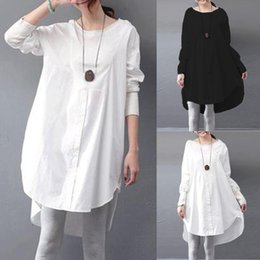 4f6086fa6c3 Zanzea Autumn Spring Shirt Dress Women Long Sleeve Round Neck Irregular Hem Loose  Casual Party Dresses Vestidos Plus Size 5xl Y19012201