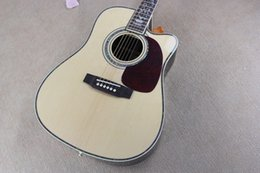 Top acousTic guiTars online shopping - Custom Factory quot Acoustic Guitar with Solid Spruce Top Color Binding Body Cutting Can Add Pickups Custom Offers