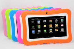 children tablets wifi Australia - Kids Brand Tablet PC 7inch Quad Core children tablets Android 4.4 Allwinner A33 google player wifi big speaker protective cover factoryprice