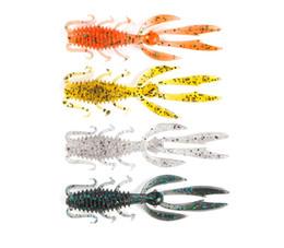 Soft Fishing Lures Shrimp Australia - 10pcs Soft Shrimp Fishing Lure 65mm 75mm Silicone Soft BaitArtificial Wobblers Attractive Fish Soft Worm