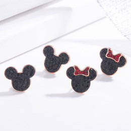Stud SwarovSki online shopping - New Silver Needle Swarovski Crystal Cute Mouse Stud Earrings Korean Fashion Hot Women s Temperament Simple Earring Jewelry