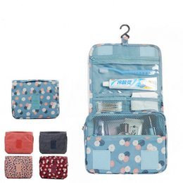 Fabric Zipper Pouch Wholesale Australia - DINIWELL Brand Portable Toiletry Cosmetic Bag Waterproof Makeup Make Up Wash Organizer Zipper Storage Pouch Travel Kit Handbag
