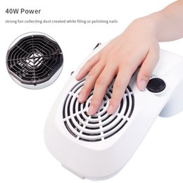 $enCountryForm.capitalKeyWord Australia - Tools Art Equipment Strong Power 40W Nail Fan Art Salon Suction Dust Collector Machine Vacuum Cleaner UV Gel Machine Nail