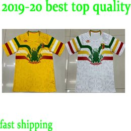 custom soccer team uniforms NZ - 2019 2020 National Team Mali Soccer Jerseys Custom Any Name Any Number Home Yellow Concept 19 20 Football Jersey Shirt Uniform