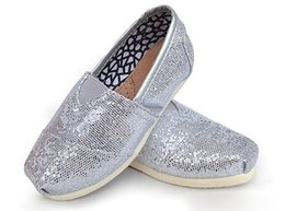 $enCountryForm.capitalKeyWord Australia - NEWChildren's or girl's kind's Classic comfortable canvas shoes EVA casual glitter Flat shoes s
