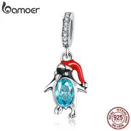 996bcafd9 Pandora Style 925 Sterling Silver Happy Penguin Pendant Colorful Enamel  Animal Charms Fit Women Bracelets Bangles DIY Jewelry