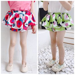 $enCountryForm.capitalKeyWord NZ - 2019 new floral girls shorts Korean baby Ruffle Shorts kids designer clothes girls pants kids Summer Shorts baby girl designer clothes A6057