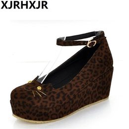cat pumps NZ - XJRHXJR Japanese Style Lolita Shoes Lovely Cat Slipsole Flatform Shoes Woman Pumps Free Shipping SH190929