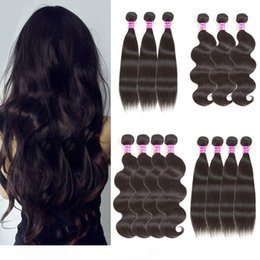 straight wavy hair weave NZ - K Brazilian Virgin Hair Weaves Straight Body Wave Human Hair Bundles Indian Malaysian Peruvian Wet And Wavy Human Hair Extensions With