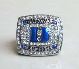 devil alloys Canada - Defective 2010 Duke Blue Devils Krzyzewski College Basketball National Championship Ring American Basketball Fan Souvenirs Alloy Ring