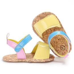 Infant Girl Slippers Australia - Newborn Infant Toddler Baby Girls Sandals Prewalker Yellow Pink First Shoes Slippers Children Kids Girl Dail Sandals Clogs