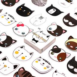 $enCountryForm.capitalKeyWord NZ - 46Pcs pack Cat Head Paper Envelope European Style Message Card Letter Stationary Storage Paper Sticker Gift