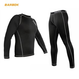 base layer thermals Australia - WOSAWE Winter Thermal Fleece Motorcycle Clothes Underwear Set Warm Motocross Racing Base Layer Jersey Pants Long Johns Suit
