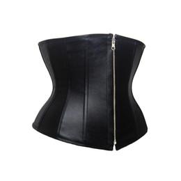 561fae92c13 Waist Trainer Women Slimming Belt Shaper Corset Body Shapers Modeling Strap Faux  Leather Zip Underbust Shapewear Cincher